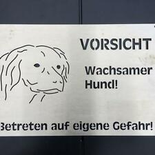 Kooiker Redriever Hundewarnschild gebürstetem Edelstahl 20x30cm Hundeschild (B1)