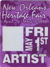 New Orleans 1998 Jazz & Heritage Backstage Pass 5/1 Jimmy Buffett
