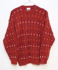 Vintage 80s Izod Mens Large Sweater Crewneck Cotton Knit Long Sleeve