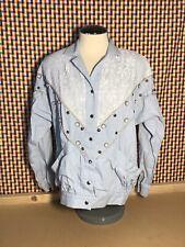 New listing 80s Vtg Womens Sz Medium Button Embellished Jacket Long Sleeve Disco Coat