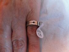 New ~ Unisex ~ Stainless Steel ~ Ring ~ Size P (18mm) Leaf Design