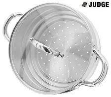 Judge acciaio inox 16, 18 RO 20cm Pentola a vapore Inserto coperchio in vetro -