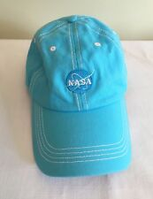 NASA Baseball Cap Hat Turquoise Cotton Adjustable Prairie Mountain VG Cond