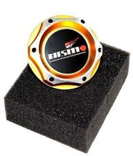 FOR NISSAN NISMO JDM GOLD BILLET ENGINE OIL CAP GTR 350z G37 SILVIA 370z G35