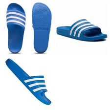 Adidas Mens Silders Slide Shoes Adilette Aqua Flip Flops Beach Sandals Blue