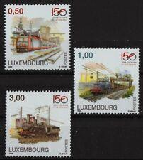 Chemin de fer 150 ans MNH Lot 3 timbres 2009 Luxembourg #1278-80 électrique
