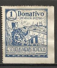 1183- GRAN SELLO FISCAL PATRONATO CENTRAL  ESCUELAS PESCA,ESPAÑA,MARINA,BARCOS,S