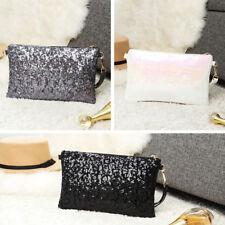 New Ladies Chain Evening Purse Handbag Sequins Shoulder Bag Clutch Shiny