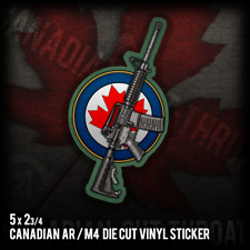Canadian AR M4 Rifle Army Military War Rifle Vinyl Decal Sticker