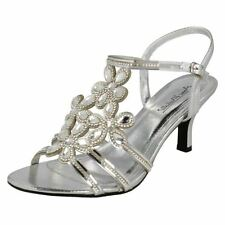 Ladies Anne Michelle Strappy Diamante Evening Sandals - F10581