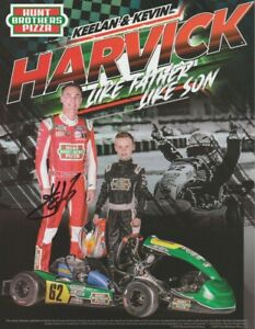 """2021 Kevin Harvick signed Hunt Bros """"Like Father Like Son"""" NASCAR Cup Hero Card"""