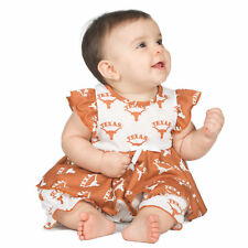 Baby Girls University Of Texas UT Longhorns Frilly Infant Jumpsuit (NB-24m)