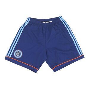 New York City FC MLS Adidas Men's Adizero Navy Blue Authentic Team Shorts