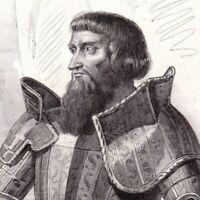 Portrait XIXe Jean II Le Meingre De Boucicaut Maréchal Bataille Nicopolis