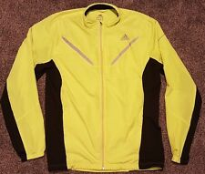 Adidas Climaproof AdiViz Yellow Men's Running Jacket. Reflective / Glow piping