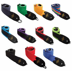 Rotosound Guitar Strap High Quality Nylon Webbing  Choice Of Colours RRP £8.99