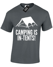 Camping ist in Zelten Herren T Shirt Parodie Urlaub Festival Natur Outdoor S - 5XL