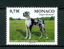 Monaco 2017 MNH International Dog Show Great Dane 1v Set Pets Dogs Stamps