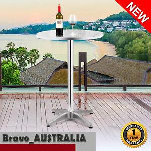Bar Table Round Height Adjustable Outdoor Indoor Kitchen Aluminium Cafe Pub