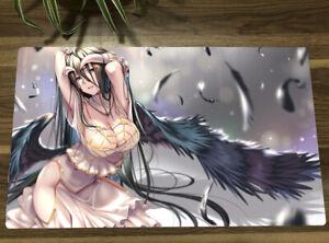 Overlord Albedo Anime Custom Playmat TCG CCG Yugioh Mat Game Play Mat + Free Bag