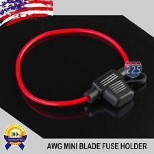 100 Pack 18 Gauge APM / ATM MINI Blade Inline Fuse Holder Car Truck Marine Boat