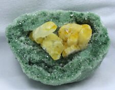 1297g New Find Natural Green & Yellow Tibetan Quartz Crystal Cluster Specimen