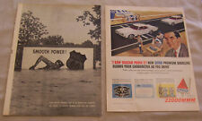 TWO VINTAGE MAGAZINE ADS FOR CITGO AND PHILLIP 66
