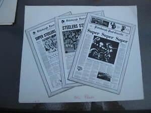 1979 PITTSBURGH STEELERS Press Release Post Gazette Original Prints Super Bowls