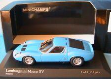 LAMBORGHINI MIURA SV 1971 BLUE AZZURRO MINICHAMPS 400 103650 1/43 BLEU AZUR BLAU