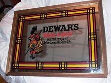 Dewar's White Label Scotch Whisky John Dewar & Sons Ltd Framed Mirror Sign