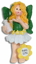 Faith - Forest Fairy Princes Personalized Christmas Ornament by Deb & Co Resin