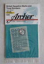 Archer 1/72 British Squadron Signs Junior Regiment (Blue) AR72086BL