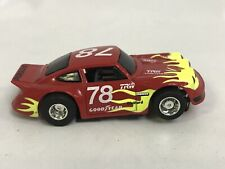 TYCO PORSCHE CARRERA RED W/ FLAMES #78 Slot Car HO Running Chassis