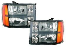 OE Type Black Housing Head Lights by DEPO 2007-10 GMC Pickup Truck Sierra