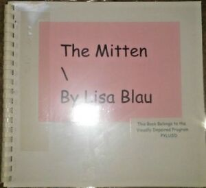 The Mitten by Lisa Blau - in Braille for the Blind Children