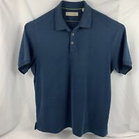 Tommy Bahama Mens Short Sleeve Polo Shirt Blue 60 %modal Polyester Size XL