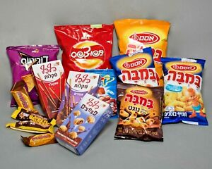 Israeli Snacks Gift Basket Bamba Bissli Chocolate from Israel Jewish Kosher Foo