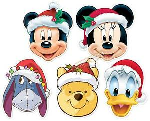Topolino e Amici Disney Natale 2D Card Party Face Mask 5 Confezione Mickey