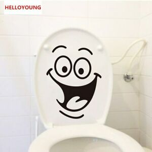 Toilet Stickers Cartoon Smile Wallpapers All-match Style Art Mural Waterproof