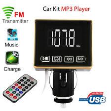 Bluetooth MP3 Player FM Transmitter Modulator Car Kit USB SD TF MMC LCD Remote