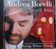 Andrea Bocelli Sacred Arias Music CD Orchestra E Coro Dell' Accademia Nazionale