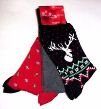 Men's Three Pair Assorted Holiday Crew Socks - Shoe Size 7-12 - NWT