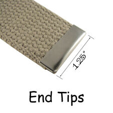 50 Nickel Military Belt Buckle End Tips for Cotton Webbing - 1.25 Inch