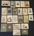 ANTIQUE - MAN /WOMAN /COUPLE /FAMILY /CHILDREN - CABINET PHOTOS (23) - ORIGINAL