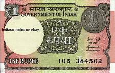 INDIA One Rupee L Inset Rare B Prefix 2015 Ashoka Watermark Bank Note UNC NEW