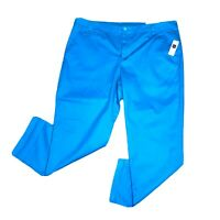 Khakis By Gap Women's Size 18 Blue Vintage Rolled Crop Stretch NWT $50