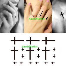 1 x sheet temporary tattoo stickers black cross body art fancy dress ladies men