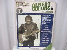 Albert Collins Blues Play Along Volume 9 CD Sheet Music Song Book Songbook