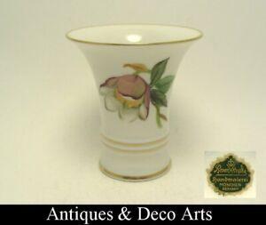 Rosenthal Porzellan Vase mit Handbemalte Blume