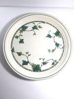 """Keltcraft Noritake Ivy Lane Dinner Plate Green Ivy White 10 1/2"""" Ireland"""